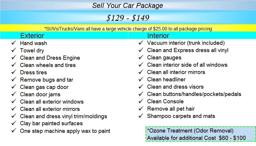sell your car pkg